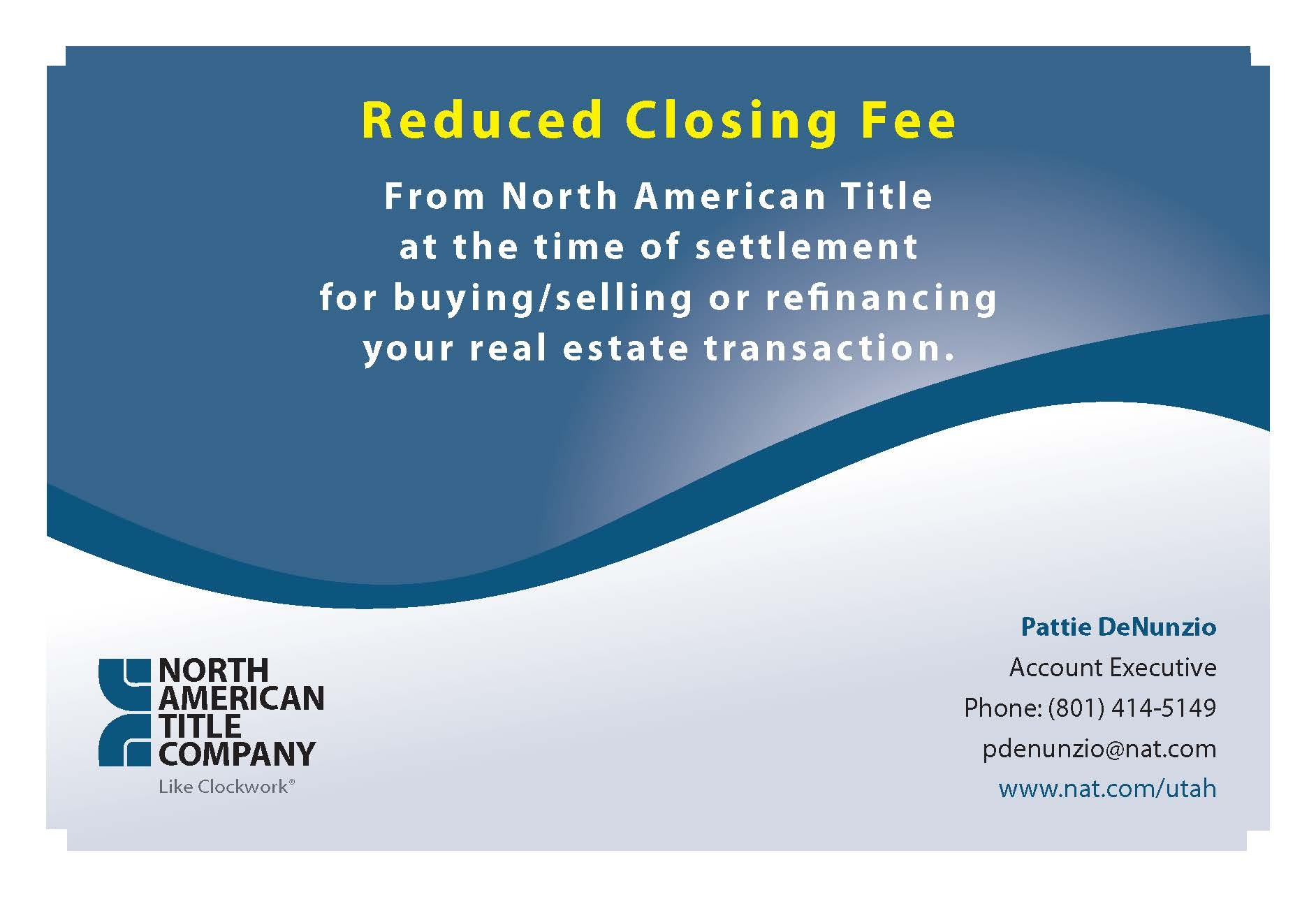Corporate reduced fees flyer