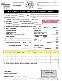 Travel reimbursement download fi5is request for in state travel