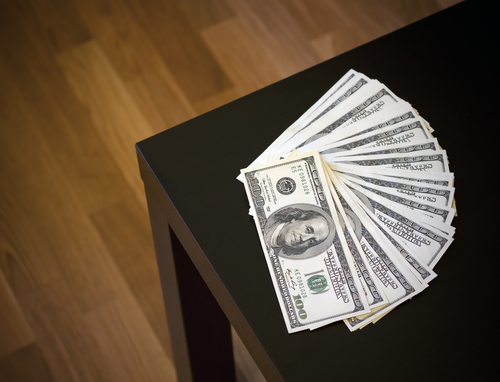Money on the table Image