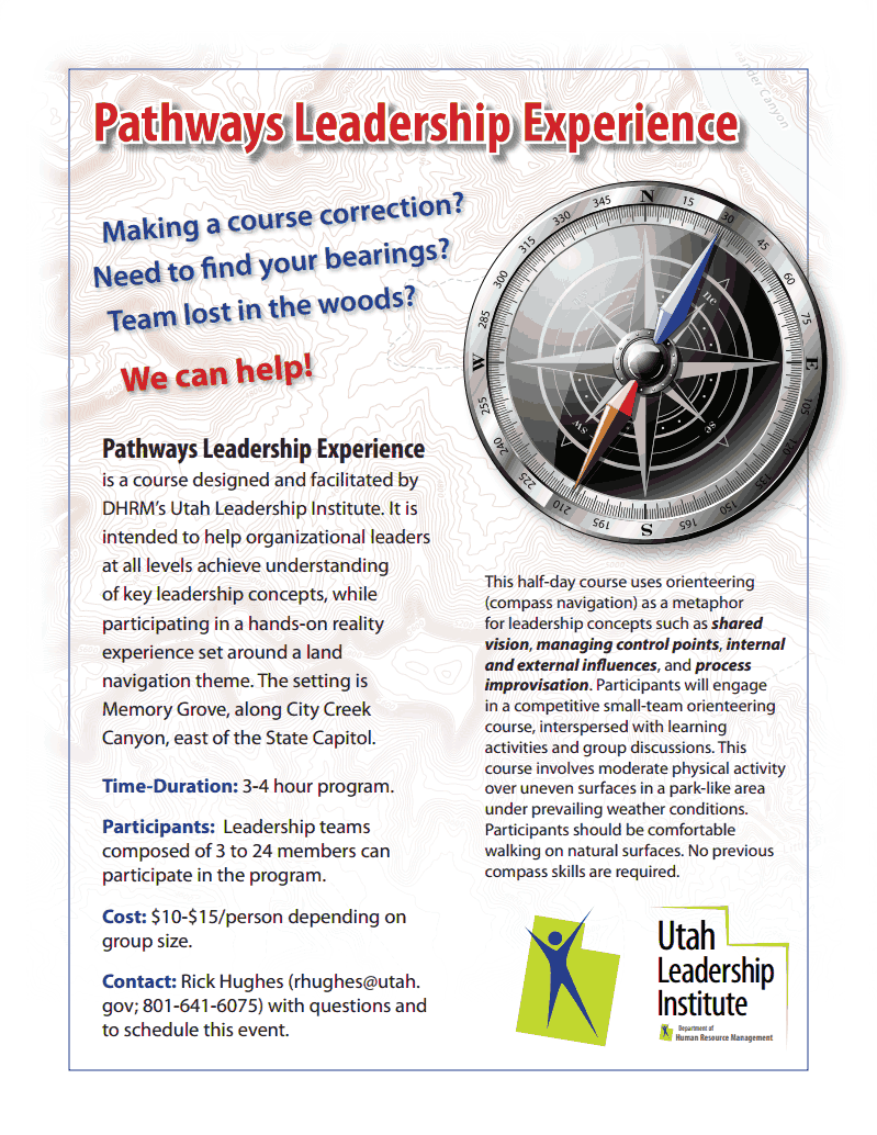 Pathways to leadership flyer