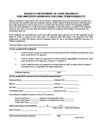 Request for payment of leave for LTD employees thumbnail image