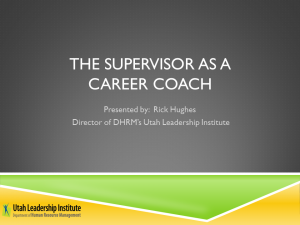 Supervisor as a Career Coach webinar link